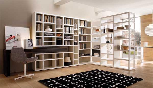 Дизайн стеллажей для книг