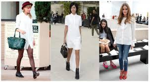 Как носить белую рубашку в весенне-летний период 2014?