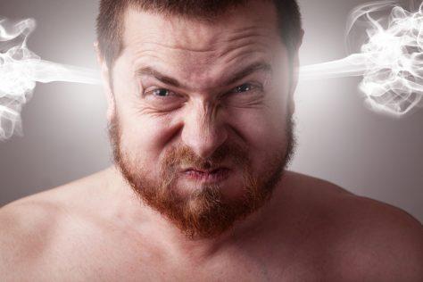 Гневный мужчина может быть в депрессии
